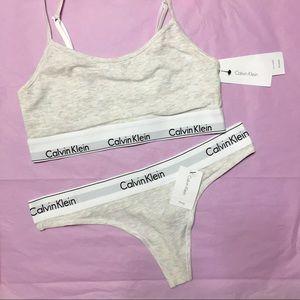 Calvin Klein Bra & Thong Matching Underwear Set